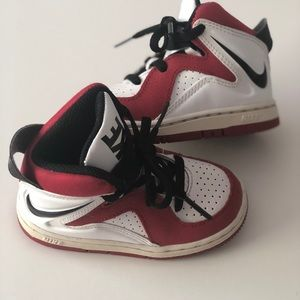 Nike Red and White High Top Sneakers Baby Size 6